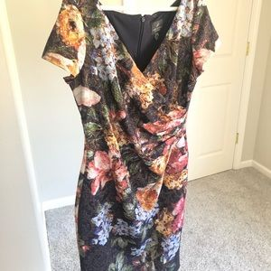 Adrianna Papell jacquard floral dress